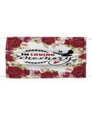 In loving memory Cloth face mask front