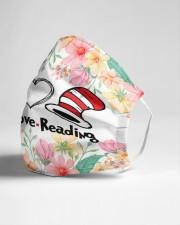 Peace love reading Cloth face mask aos-face-mask-lifestyle-21