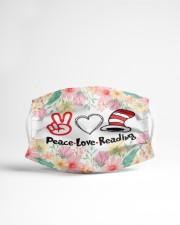 Peace love reading Cloth face mask aos-face-mask-lifestyle-22