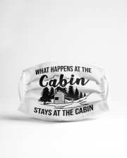 Stays at the cabin Cloth face mask aos-face-mask-lifestyle-22