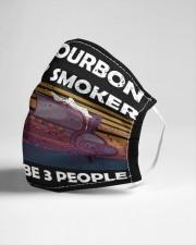 i like bourbon and my smoker Cloth face mask aos-face-mask-lifestyle-21