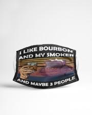 i like bourbon and my smoker Cloth face mask aos-face-mask-lifestyle-22