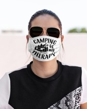 Camping is my therapy Cloth face mask aos-face-mask-lifestyle-02