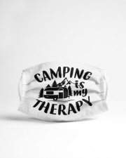 Camping is my therapy Cloth face mask aos-face-mask-lifestyle-22