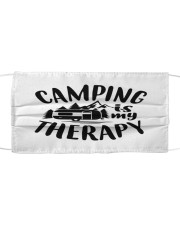Camping is my therapy Cloth face mask front