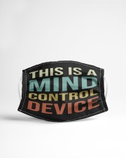 This Is A Mind Control Device Cloth face mask aos-face-mask-lifestyle-22