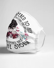 I am the storm Cloth face mask aos-face-mask-lifestyle-21