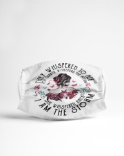 I am the storm Cloth face mask aos-face-mask-lifestyle-22