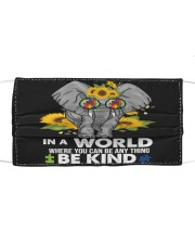 Be kind elephant Cloth face mask front
