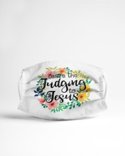 Leave the judging to Jesus Cloth face mask aos-face-mask-lifestyle-22