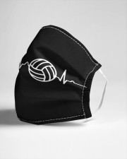 Volleyball Heartbeat Cloth face mask aos-face-mask-lifestyle-21