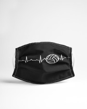 Volleyball Heartbeat Cloth face mask aos-face-mask-lifestyle-22