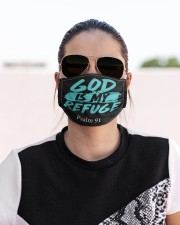 God is my refuge Cloth face mask aos-face-mask-lifestyle-02