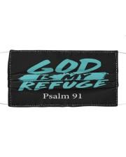 God is my refuge Cloth face mask front