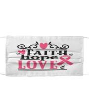 Faith hope love Cloth face mask front