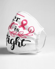 Her fight is our fight Cloth face mask aos-face-mask-lifestyle-21