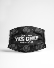 Say Yes Chef Cloth face mask aos-face-mask-lifestyle-22