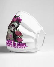 Floral Sugar Skull Cloth face mask aos-face-mask-lifestyle-21