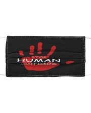 Stop human trafficking Cloth face mask front