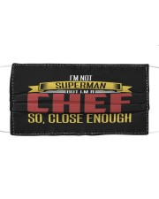 i am a chef Cloth face mask front