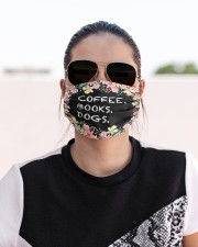 Coffee books dogs Cloth face mask aos-face-mask-lifestyle-02