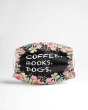 Coffee books dogs Cloth face mask aos-face-mask-lifestyle-22