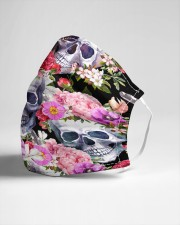 Skull floral Cloth face mask aos-face-mask-lifestyle-21