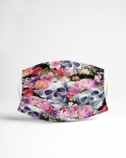Skull floral Cloth face mask aos-face-mask-lifestyle-22