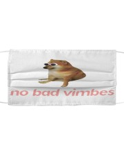 No bad vimbes Cloth face mask front