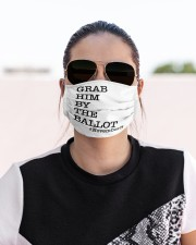Grab Him By the Ballot Cloth face mask aos-face-mask-lifestyle-02