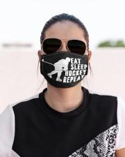 Eat Sleep Hockey Cloth face mask aos-face-mask-lifestyle-02