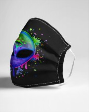 Splatter Alien Cloth face mask aos-face-mask-lifestyle-21