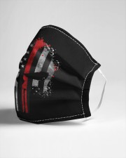Thin Red Line Flag Skull Cloth face mask aos-face-mask-lifestyle-21