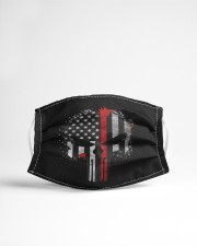 Thin Red Line Flag Skull Cloth face mask aos-face-mask-lifestyle-22