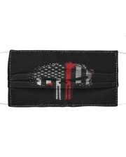 Thin Red Line Flag Skull Cloth face mask front