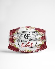 In the memory of a life Cloth face mask aos-face-mask-lifestyle-22