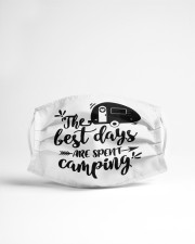 The best days are spent camping Cloth face mask aos-face-mask-lifestyle-22