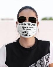 Sorry i am late cat Cloth face mask aos-face-mask-lifestyle-02