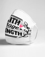 Faith courage strenght Cloth face mask aos-face-mask-lifestyle-21