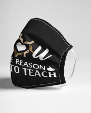 You are the reason i teach Cloth face mask aos-face-mask-lifestyle-21