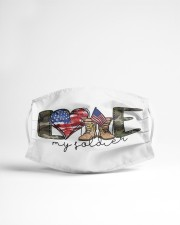 Love my soldier Cloth face mask aos-face-mask-lifestyle-22