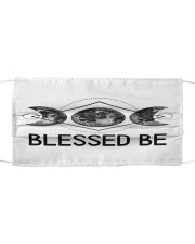 Goddess Blessed Be Cloth face mask front
