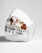 Driving My Husband Crazy One Chicken Cloth face mask aos-face-mask-lifestyle-21