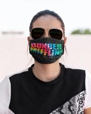 Dunder Mifflin tie dye Cloth face mask aos-face-mask-lifestyle-02