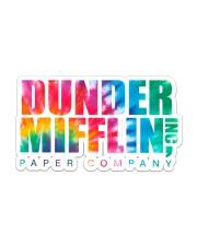 Dunder Mifflin tie dye Sticker tile