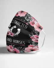 dogs and horse Cloth face mask aos-face-mask-lifestyle-21