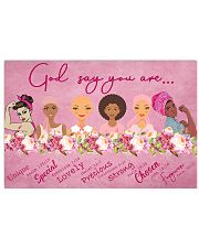 Breast Cancer God Say 17x11 Poster front