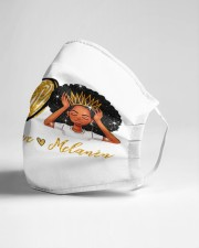 Peace Love Melanin Cloth face mask aos-face-mask-lifestyle-21