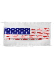 american flag fish Cloth face mask front