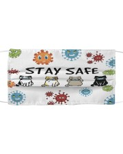 LH Stay Safe Cat Cloth face mask front